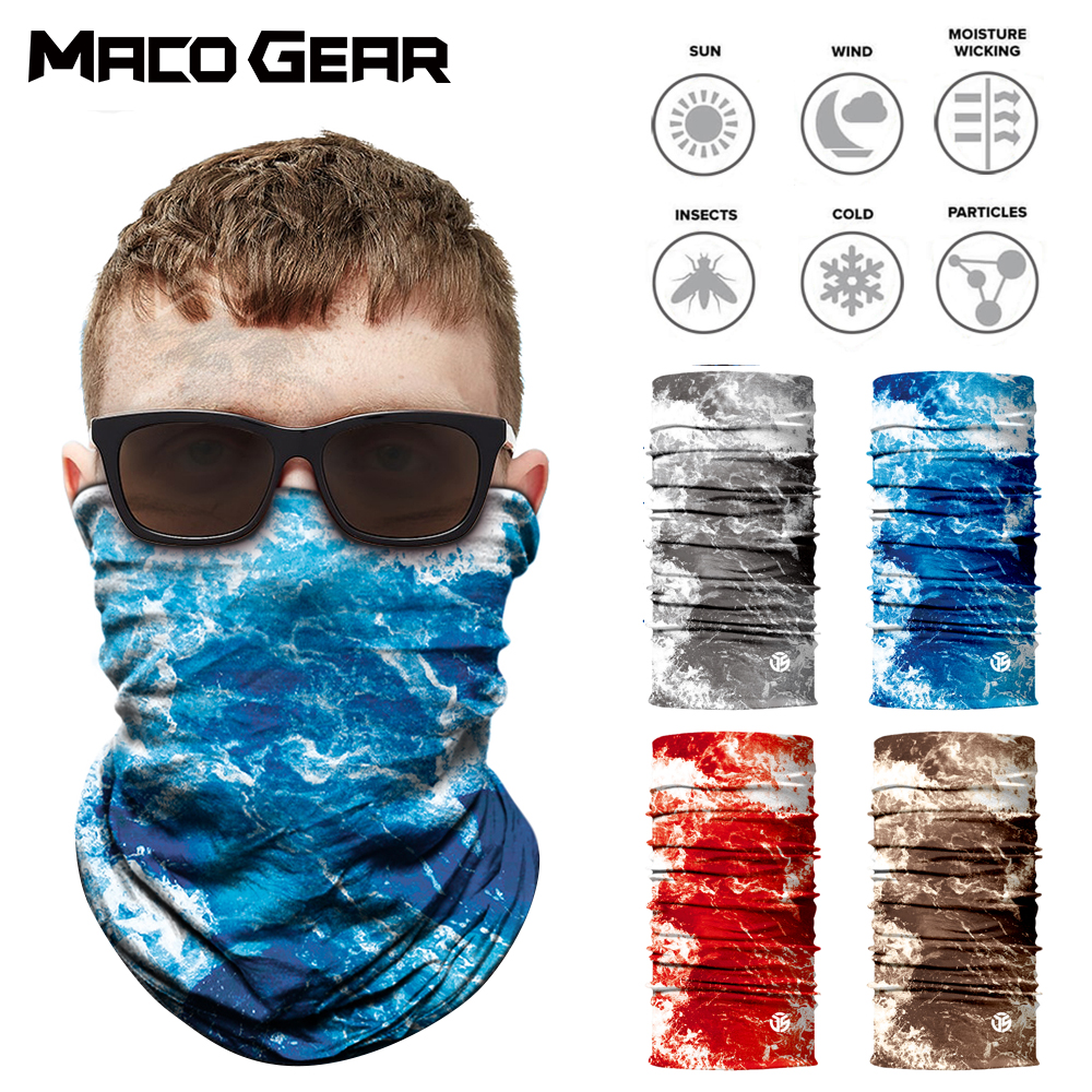 3D Outdoor Seamless Magic Bandana Neck Gaiter Warmer Face Shield Sport Fishing Cycling Skiing Hiking Tube Scarf Men Women Mask