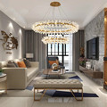 Роскошная Новая современная люстра освещение для гостиной Креативный дизайн подвесная хрустальная лампа для столовой светодиодный хруста...