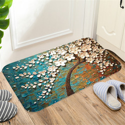 Indoor Super Absorbs Doormat Latex Backing Non Slip Door Mat For Small Front Door Inside Floor Dirt Trapper Cotton Entrance Rugs
