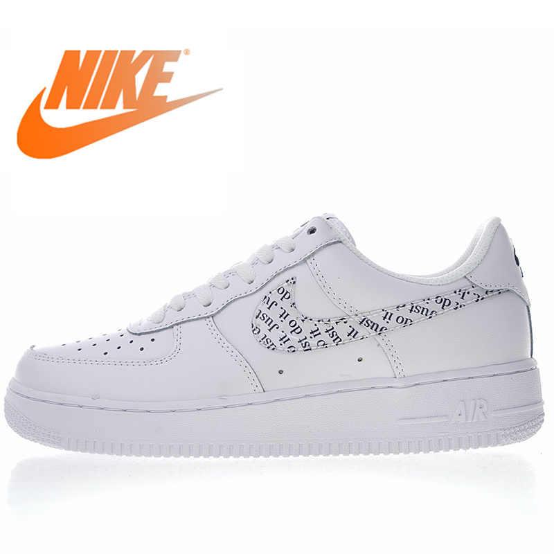 Nike força aérea 1 07 07 sapatos de skate masculinos e femininos branco respirável absorção de choque baixo topo esportes ao ar livre bq5361 100