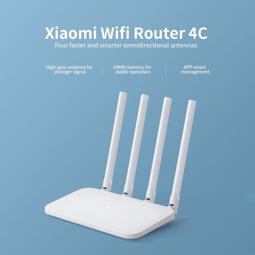 Xiaomi Mi Wifi Router 4C High-Speed Wifi Through The Wall King Home Intelligent Anti-Mite Network 100 Mega Fiber Optical Router 3