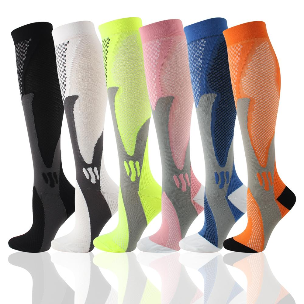 Autumn Winter Compression Socks Men Women Sports Cartoon Anti-Fatigue Relief Pain Diabetic Nursing Compression Socks Popsocket