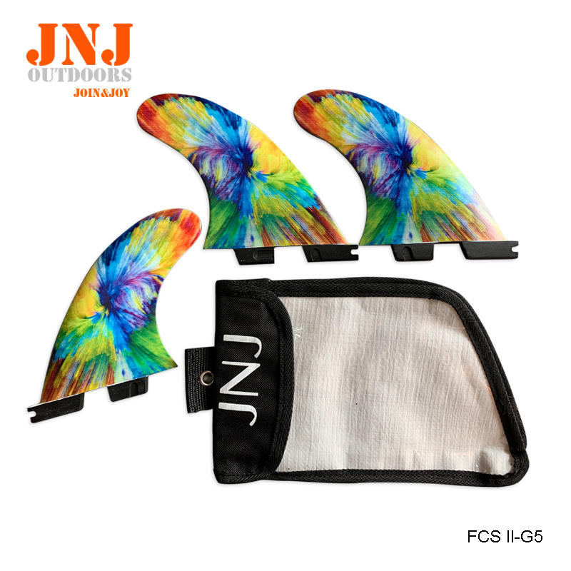 Free Shipping Epoxy Fiberglass FCS 2 Surfboard Thruster FCS II G5 Fin Size M With JNJ Bags