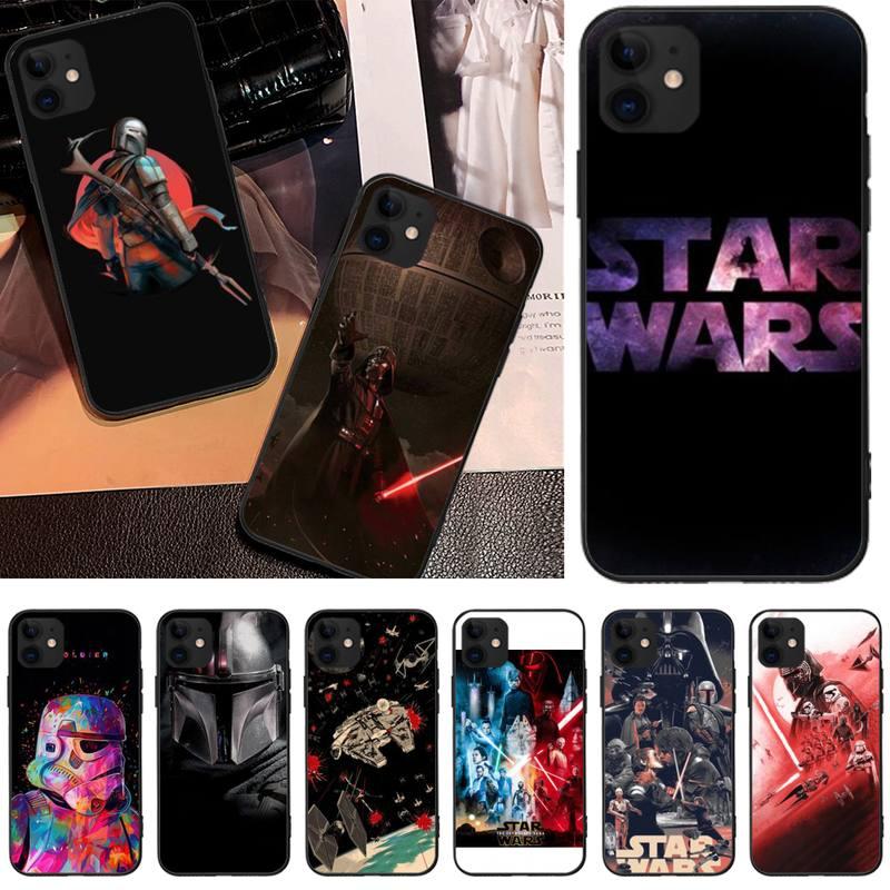 MayDaysmt Star Wars Coque funda del teléfono carcasa para iphone6 6s plus 7 8 7 8 plus X XR XS MAX 11 Pro Max cubierta Original desbloqueado Apple iPhone 6 y 6 Plus teléfonos celulares 16/64/ROM 4,7 128GB/5,5 'IPS GSM WCDMA LTE IOS iPhone6 teléfono móvil