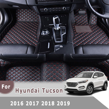 цены For Hyundai Tucson 2019 2018 2017 2016 Right Hand Drive RHD Car Floor Mats Auto Accessories Leather Rugs Carpet Car Styling