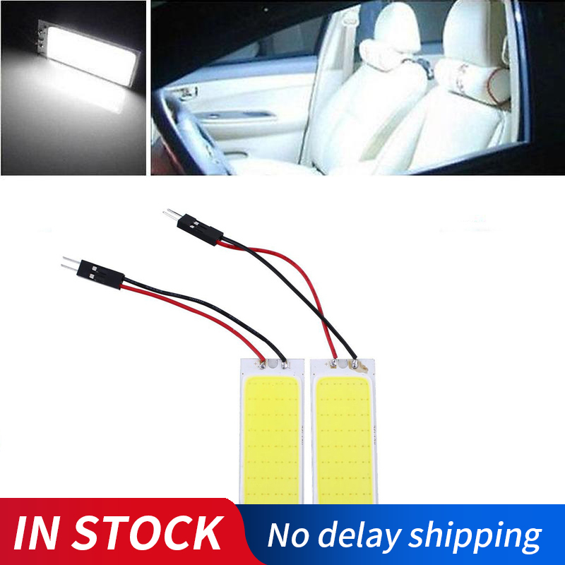 2Pcs/Lot COB 36Led Panel White Led Auto Interior Parking Light Reading Map Lamp Bulb Dome Festoon DC 12V