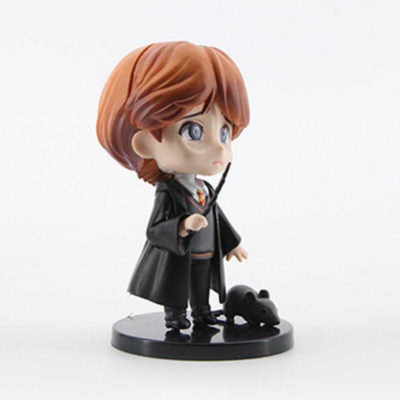 Image 3 - 6pcs/set 8 10cm  Movie Harri Ron Hemione Action Figures Doll Magician Potters Cake Decoration ToyAction & Toy Figures   -