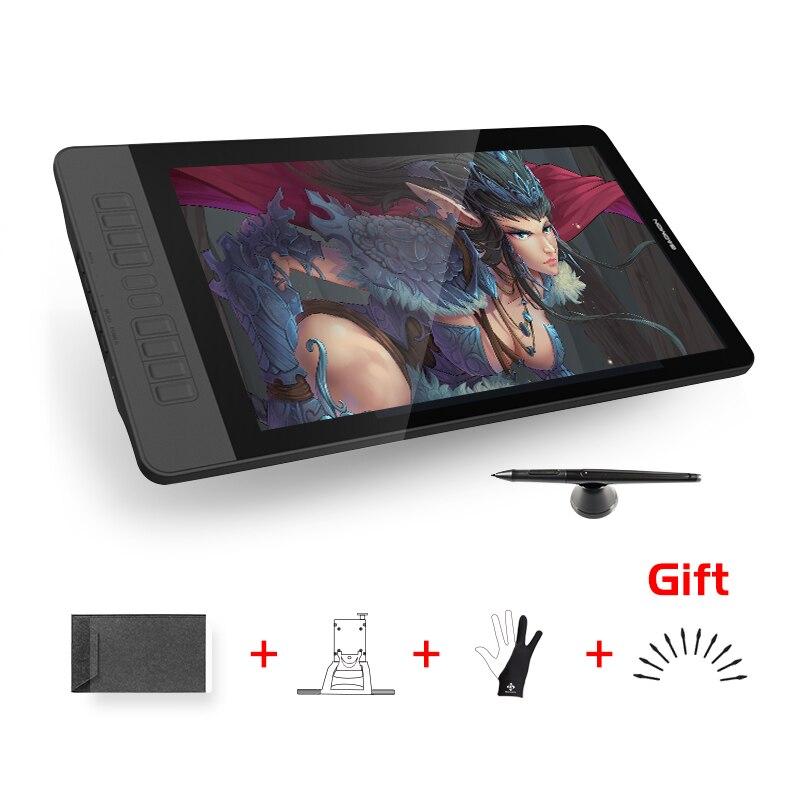 Gafairy PD1560 15.6 pouces 10 touches Art professionnel graphique tablette avec écran stylo dessin tablette moniteur pour Win & Mac avec des cadeaux