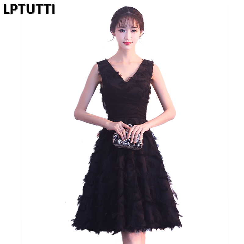 LPTUTTI Applique New Sexy Woman Social Festive Elegant Formal Prom Party Gowns Fancy Short Luxury   Cocktail     Dresses
