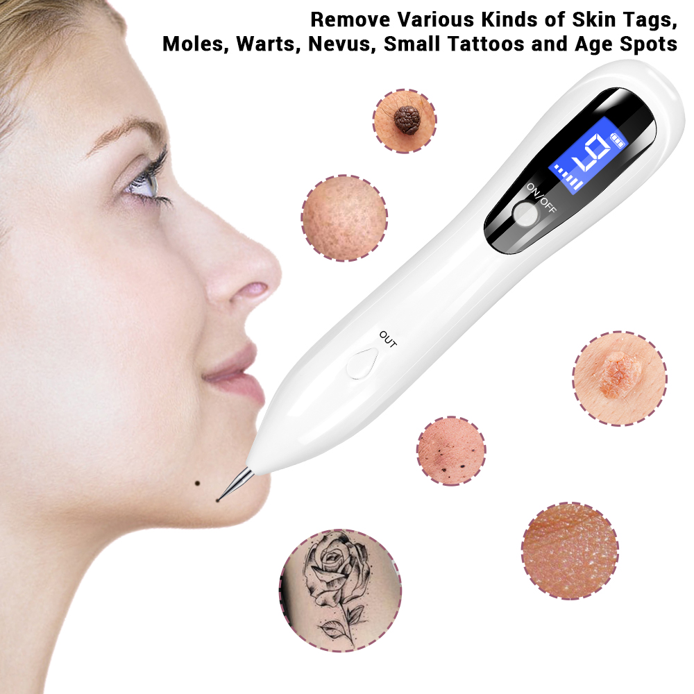 USB Rechargeable Mole Spot Freckle Tattoo Removal Pen LCD Laser Sweep  Adjustable Electronic Face Skin Care Beauty Instrument