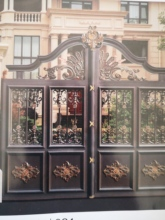 Shanghai Hench  custom USA Australia home use decorative aluminium house entrance gate