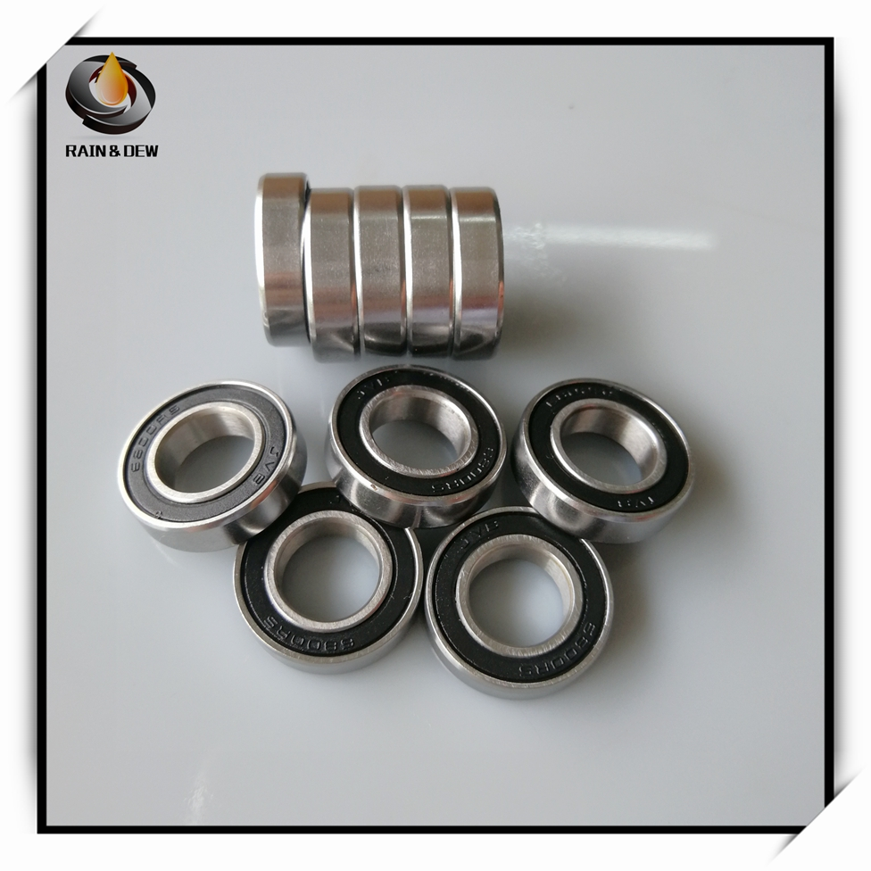 10Pcs S6700-2RS 10x15x4 mm Stainless Steel Ball Bearing <font><b>6700RS</b></font> Ball Bearing fishing reel bearing image