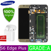samsung s6 edge plus lcd screen display for samsung s6 edge plus lcd display samsung galaxy s6 edge plus touch screen G928f lcd(China)