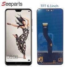 TFT Huawei P20 Pro LCD ekran dokunmatik ekran Digitizer meclisi ekran için çerçeve ile Huawei p20 pro ekran değiştirme
