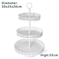 1 Set Dessert Display Tray Decoration Tools Cake Stand Wedding 3 Tier Tower Cupcake Kitchen Dining Bar Party Decor