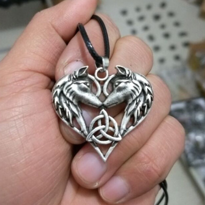 Blackened Fox Head Necklace Animal Totem Witchcraft Wiccan Goth Pagan