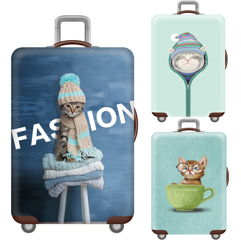 Cartoon Luggage Case Cover,Travel Accessories For 18-32 Inch Suitcases,Baggage Trunk Elastic Protective Cover,Trolley Dust Cover