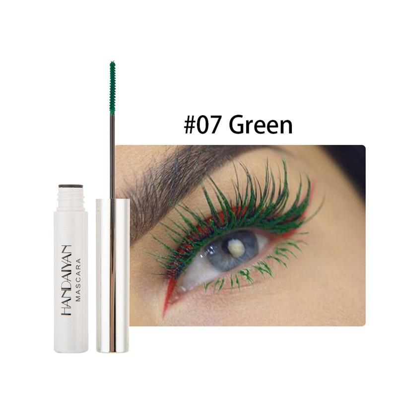 Цветная тушь водостойкие ресницы, Подкручивающая, удлиняющая, густой объем, макияж, ресницы для глаз, быстро сохнут, стойкий макияж для красоты - Цвет: 7