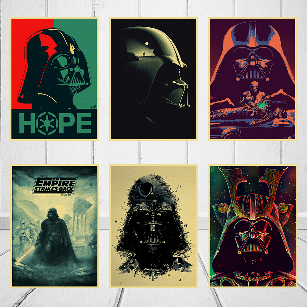 Darth Vader Star Wars Classic Movie Fan Vintage Poster Home Decor Wall Picture poster 42x30cm image