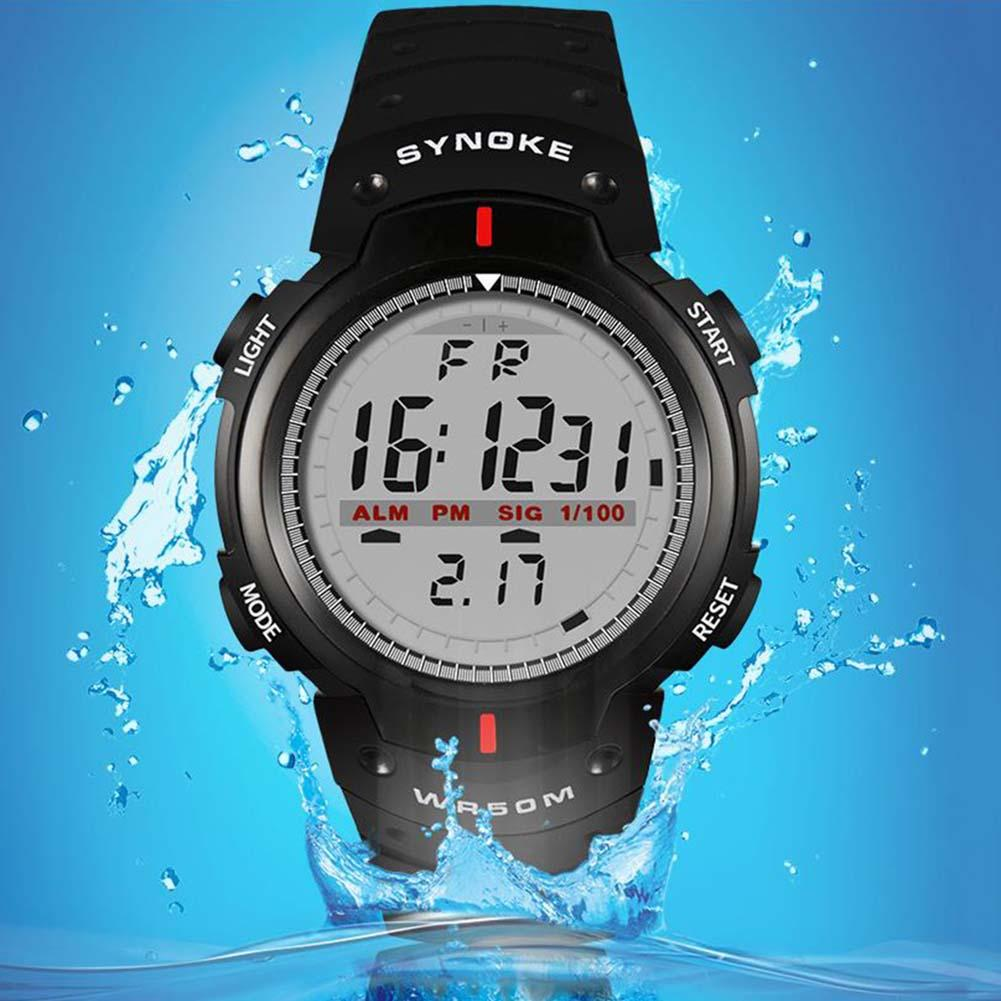 Men Outdoor Sport Luminous Week Date Alarm Digital Wrist Watch Quartz Wristwatch Male Clock Sport Black Watch Montre Homme