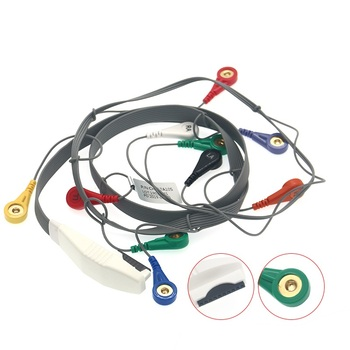 Holter Recorder ECG Patient Cable 10 Pin 10 Leads Snap 4.0 AHA Standard for Mortara H12 Holter Instrument image