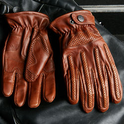 Imported Fetal sheepskin Retro Motorcycle Gloves Male Real Leather Gloves Autumn Winter Men Driving Fingers Touchscreen SZ-D018