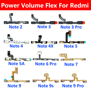 New Volume Button Power Switch On Off Button Flex Cable For Xiaomi Redmi Note 2 3 4 4X 5 5A 6 7 9 Pro 9s Power Volume Button