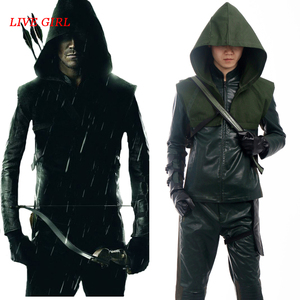Oliver Queen Cosplay Green Arrow Season 3 Costume Outfit Superhero Halloween Party Men Clothes Custom Made Adult With Boots