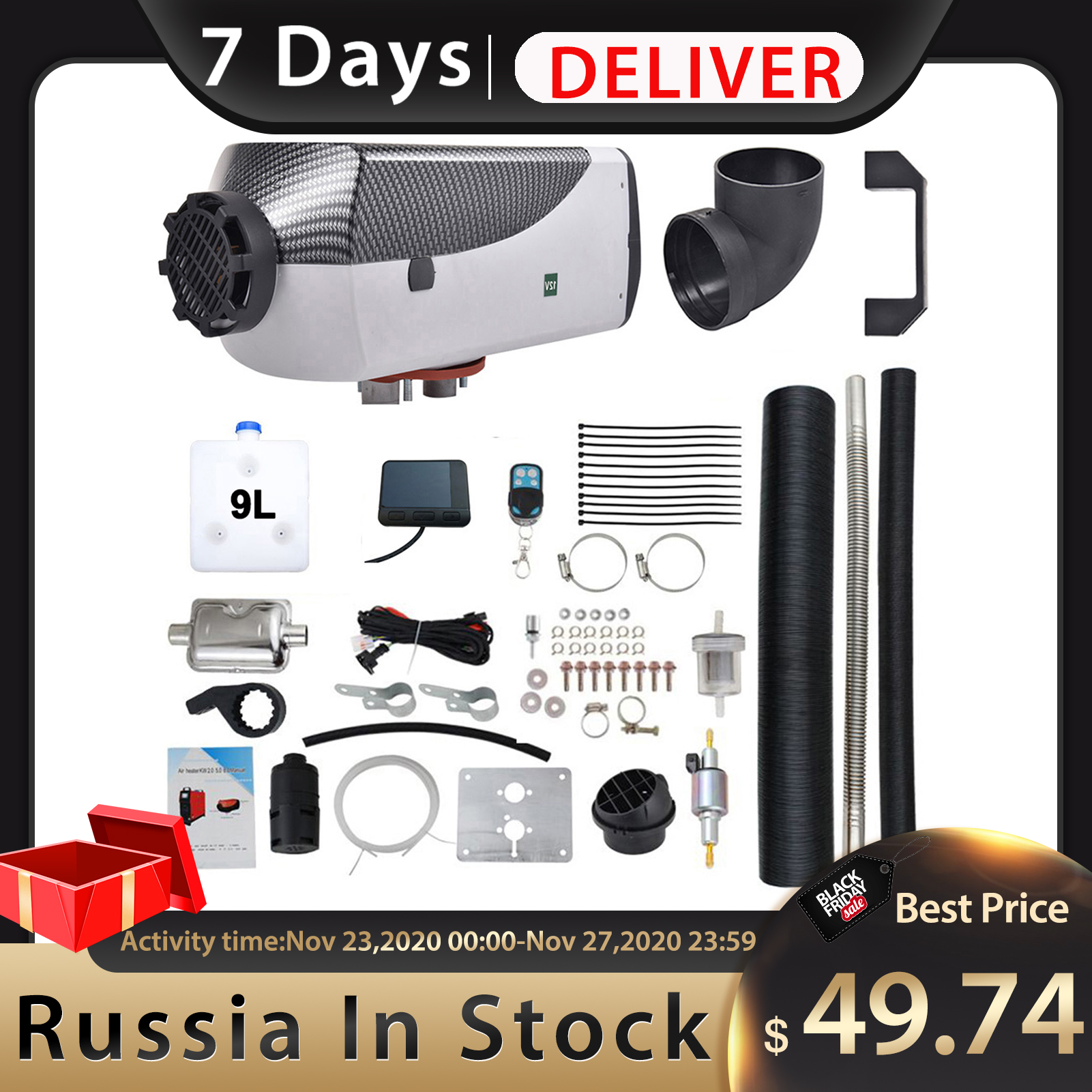 12V 24V 2KW 8KW Car Diesels Air Parking Heater Compact Air Parking Heater Kit Universal For RV Motorhome Trailer|Heating & Fans| - AliExpress