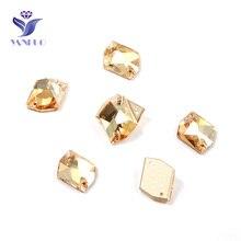 YANRUO 3265 Cosmic Crystal Golden Shadow Sew On Stones Glass Rhinestones Sew Rhinestones For Clothing