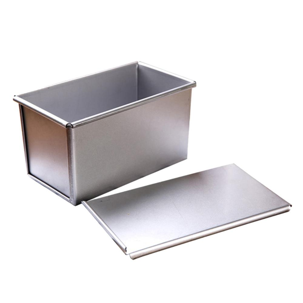 High Quality Nonstick Rectangular Aluminum Plate Loaf Bread Cake Pan Tin With Cover Toast Molds Kitchen Tools