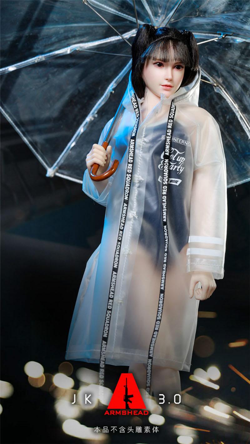 ARMSHEAD JK-03 1//6 Girlset Armed Student Sister Cloth Set 3.0 Figure Raincoat
