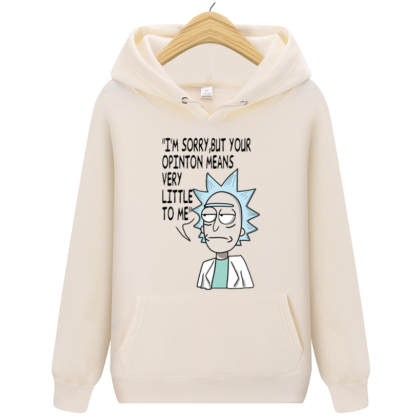 New Men Brand Hooded Streetwear Hip Hop Mens Hoodies And Sweatshirts Hoody Rick Morty  Hoodies Pullover Hoody Clothing