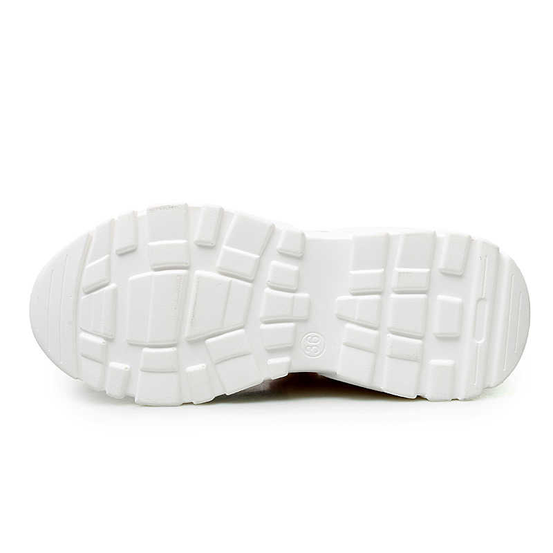 Новинка 2019 года; модные весенние кроссовки на платформе; женская обувь на массивном каблуке 7 см, визуально увеличивающая рост; женская обувь на плоской подошве со шнуровкой; женская обувь на танкетке