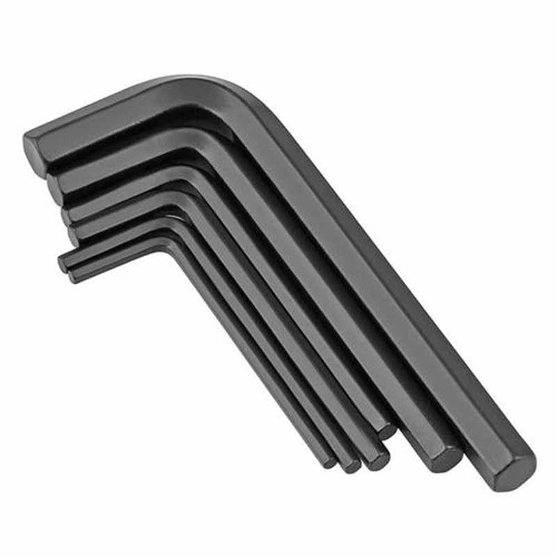 0.7-10mm DIN911/ ISO2936 Hexagon Keys Zinc Black Carbon Steel Hex Allen Key Set Wrench Cycling Repair Tool Kit Micro Hex Wrench