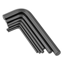 0.7-10mm DIN911/ ISO2936 Hexagon Keys Zinc Black Carbon Steel Hex Allen Key Set Wrench Cycling Repair Tool Kit Micro Hex Wrench(China)