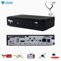 Vmade 2019 S2 Plutón S9 HD Digital satélite Receptor DVB-S2 sintonizador de TV Receptor MPEG-2/4 H 264 Youtube Bisskey IPTV Cccam