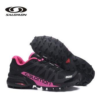 Фото - Causal Salomon SpeedCross Pro 2 Women's Running Shoes Breathable Running Shoes Sneakers Salomon Speedcross 5 Women Femme кроссовки мужские salomon l40684000 speedcross 5 черный текстиль l40684000 14 размер 45