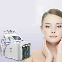 6 in 1 Deep Clear H2O2 Oxygen Spray Bio Lift Scrubber Aqua Peeling Hydro Dermabrasion Machine