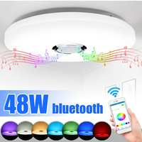 Modern LED Smart Ceiling Lamp chandelie r lighting 48W APP RGB Dimmable bluetooth Music light bedroom lamps