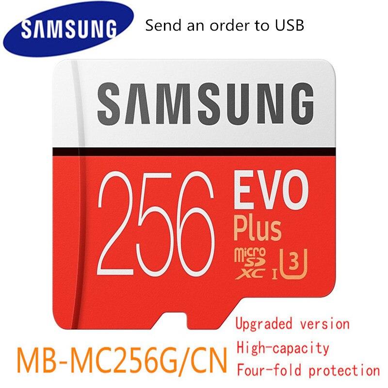 Novo 100% Original Samsung Micro Sd Cartão De Memória de 256gb Cartões Microsd Sdxc Sdhc Max 95 mb/s Evo C10 Flash unidade Do Cartão Do Tf