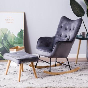 Nordycki kreatywny leżak oparcia nowoczesne drewniane meble leniwe krzesła amerykańska pojedyncza sofa fotel wypoczynkowy bujane krzesła tanie i dobre opinie Tkaniny L70cm*H95cm Szezlong Meble do domu Europa i ameryka Meble do salonu