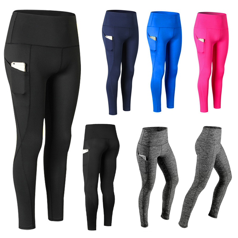 New High Waist Leggings Women Fitness Clothes 2019 Slim Bodybuilding Women's Pants Athleisure Female Sexy Leggings With Pockets