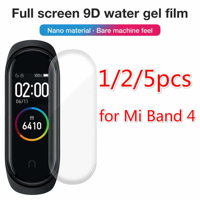 1/2/5pcs for Xiaomi Mi Band 4 Screen Protector Soft Film for Mi Band 4 Smart Bracelet Accessories Full Screen Permeability Film