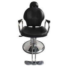 8735 Man Barber Chair with Headrest Black Beauty Salon Chair  Salon Chair  Barber Chair Vintage