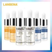 LANBENA 24K Gold Six Peptides Serum Vitamin C+Hyaluronic Acid Anti-Aging Face Cr
