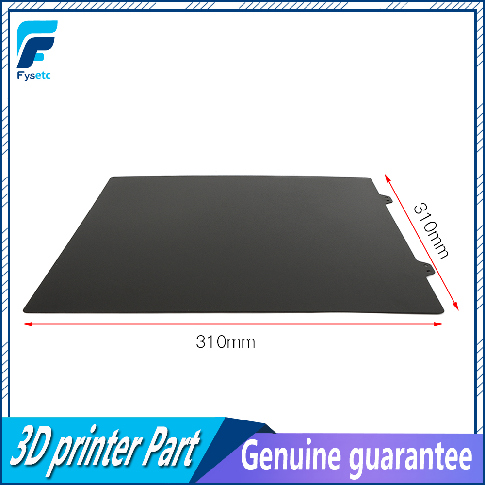 310x310mm Black Double Sided Textured PEI Spring Steel Sheet Powder Coated PEI Plate For Creality CR10 CR-10S CR10S