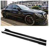 Carbon Fiber Side Body Skirts Kit Lip Splitters Bumper Cover FOR BENZ S Class S63 S65 W221 W222 2008 2020