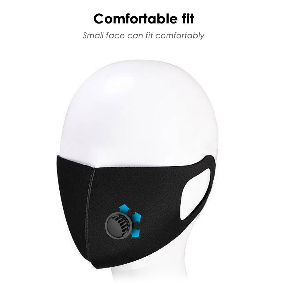 Washable Dustproof Anti Haze Mouth Face Masks With Breather Valves Outdoor Riding Windproof Mouth-muffle Protective Respirator