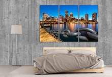 Home Decoration Wall płótno artystyczne Fan Pier Park Boston 3 sztuki malarstwo drukuj plakaty modułowe zdjęcie Cuadros do ramki sypialni